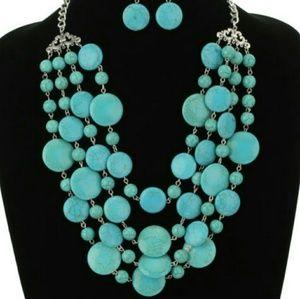 Western  stone necklace set